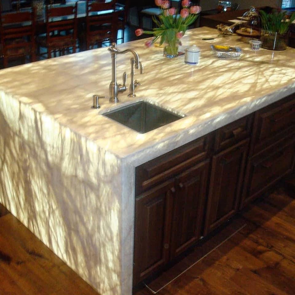 Onyx Illumianted kitchen Island