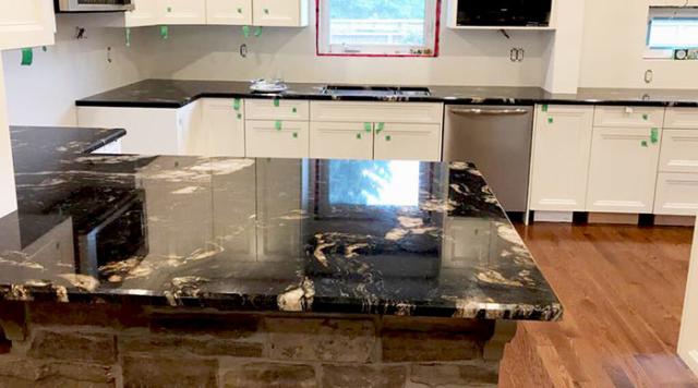 Titanium Granite Kitchen Polished