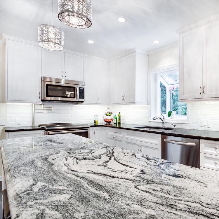 White Lynx Granite Kitchen