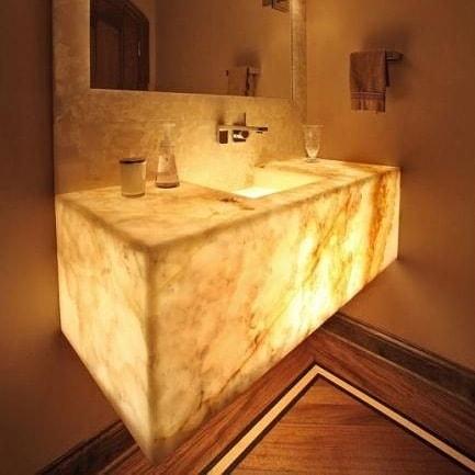 Illuminated Onyx Bathroom Vanity