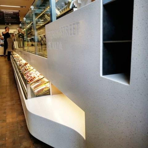 Restaurant Grade Solid Surface Display