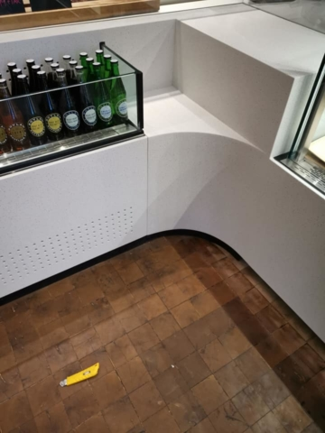 Solid Surface Display For Restaurant